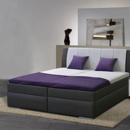 Zvýšená manželská postel BIBIANA 2 180x200 cm vč. roštu a ÚP