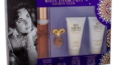 Elizabeth Taylor White Diamonds dárková kazeta pro ženy toaletní voda 50 ml + parfém 3,7 ml + tělové mléko 50 ml + sprchový gel 50 ml