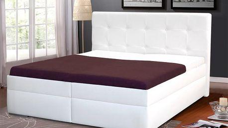 Zvýšená manželská postel INGRIDA 2 160x200 cm vč. roštu a ÚP