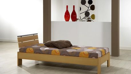 Elegantní jednolůžková postel CORA 90 cm vč. roštu a matrace