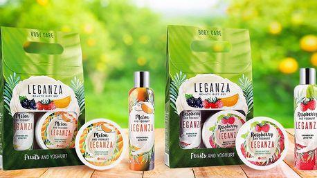 Balíčky tělové kosmetiky Leganza s vůní ovoce