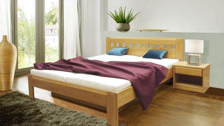 Manželská postel CVETANA 2 180x200 vč. roštu a ÚP