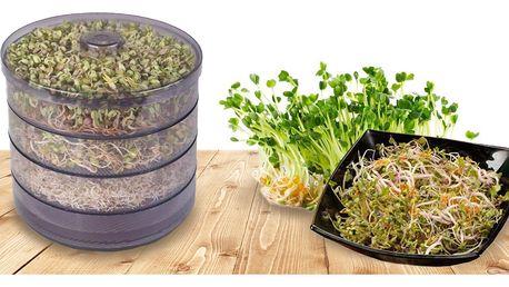 Třípatrová biomiska a výběr z 19 semínek na klíčení