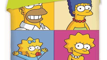 Jerry Fabrics Dětské bavlněné povlečení The Simpsons Square, 140 x 200 cm, 70 x 90 cm