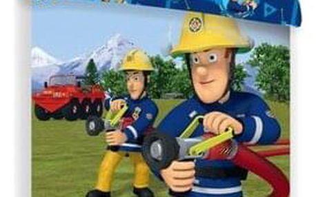 Jerry Fabrics Dětské bavlněné povlečení Požárník Sam 008, 140 x 200 cm, 70 x 90 cm