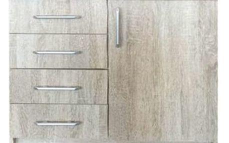 Elegantní kombinovaná komoda ROMA 4x zásuvky + 1x skříňka