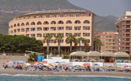 Turecko - Alanya na 8 dní, all inclusive s dopravou letecky z Prahy 60 m od pláže