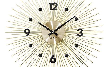 Nástěnné hodiny LAVVU CRYSTAL Lines LCT1141