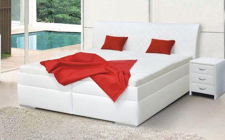 Zvýšená manželská postel MINETA PLUS 2 160x200 cm vč. roštu a ÚP