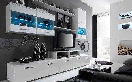 Moderní obývací stěna s dostatkem úložného prostoru LOGO 2