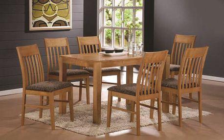 Jídelní stůl VAŠEK + židle VIOLA 1+4