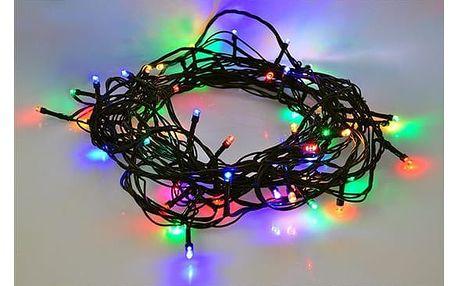 Solight Vánoční řetěz 60 LED barevný, 10 m
