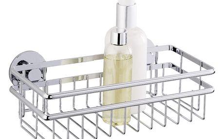 Koupelnová polička CALI, košík Express-Loc - nerezová ocel, WENKO