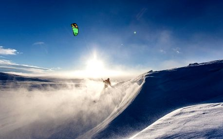 Snowkiting za den