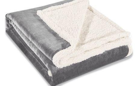 DecoKing Beránková deka Teddy šedá, 150 x 200 cm