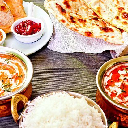 Otevřený poukaz v hodnotě 500 Kč do autentické indické restaurace
