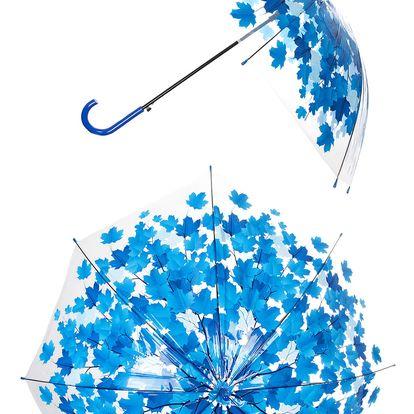 Deštník Roční období - Podzim listy modré