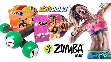 Zumba set: činky + 4 ks DVD v angličtině, včetně poštovného