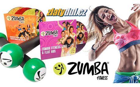 Zumba set: činky + 4 ks DVD v angličtině včetně poštovného