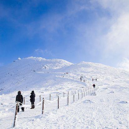 Zima v Krkonoších s polopenzí a wellness