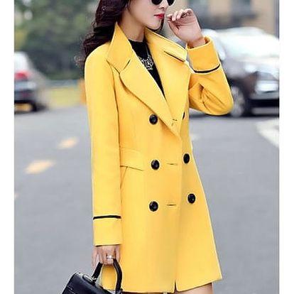 Dámský kabátek s knoflíky - 4 barvy