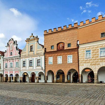 Pobyt v romantické Telči, hotel přímo na náměstí