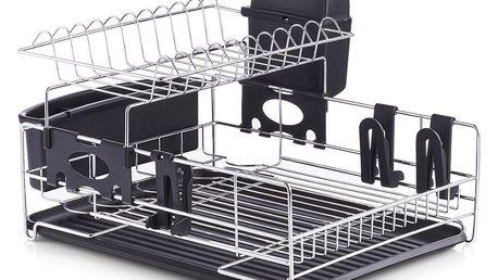 Sušák na nádobí, odkapávač - chromovaná ocel, ZELLER
