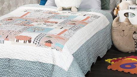 4Home Dětský přehoz na postel Animals, 140 x 200 cm