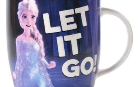 CurePink Keramický hrnek Frozen: Let It Go 325 ml bílý