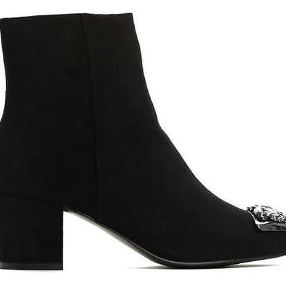 Dámské černé kotníkové boty Amie 1346