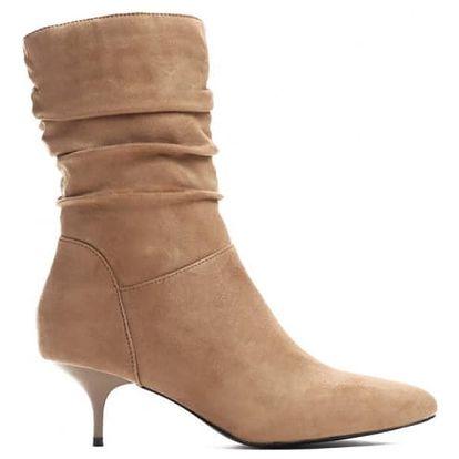 Dámské béžové kotníkové boty Claudia 9231