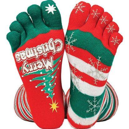 Vánoční palcové ponožky