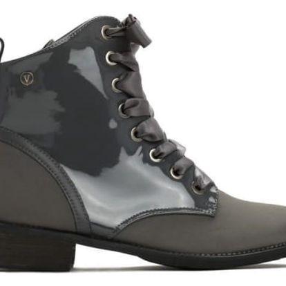 Dámské šedé kotníkové boty Esmarra 3114