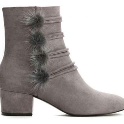Dámské šedé kotníkové boty Estefani 1347