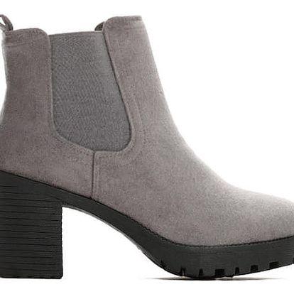 Dámské šedé kotníkové boty Tutti 6162