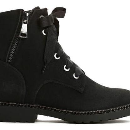Dámské černé kotníkové boty Loris 1267