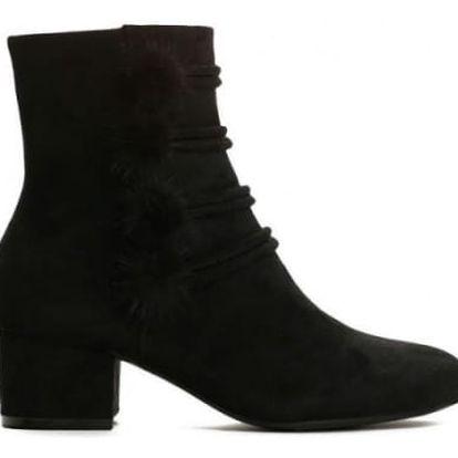 Dámské černé kotníkové boty Estefani 1347