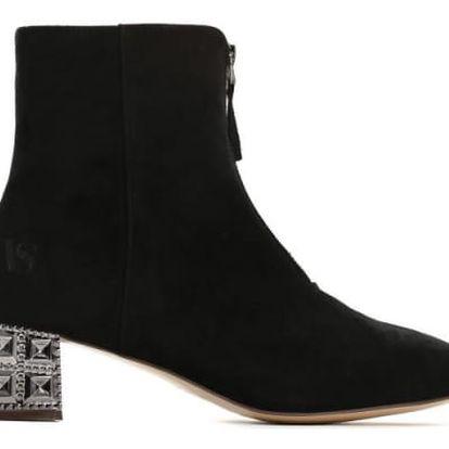 Dámské černé kotníkové boty Angela 2100