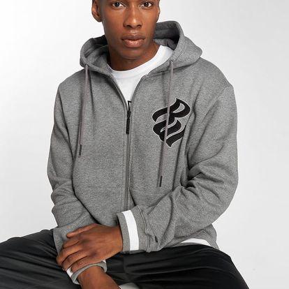 Rocawear / Zip Hoodie Logo in grey 3XL
