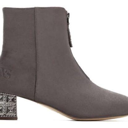 Dámské šedé kotníkové boty Angela 2100