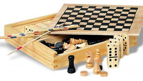 4 hry v dřevěné krabici!