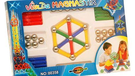 Magnetická stavebnice Magnastix 84 ks