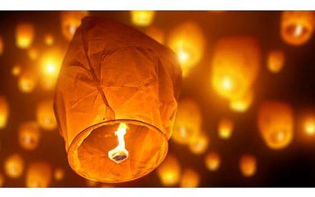 Lampiony štěstí - čepice - bílá - SLEVA