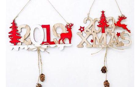 Dřevěná vánoční dekorace 2019