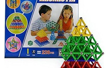 Magnetická stavebnice Magnastix 228 ks