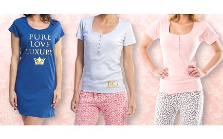Dámská pyžama s dlouhým i krátkým rukávem a noční košilky Royal Dutch
