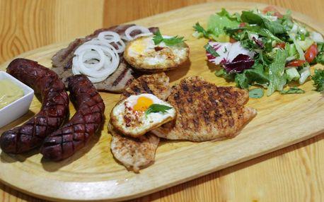 Mix grill s kuřecím i kotletami pro 2–3 osoby
