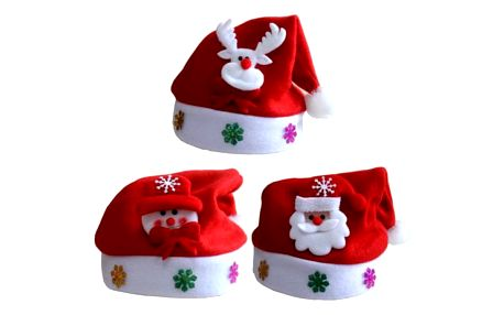 LED svíticí vánoční čepice