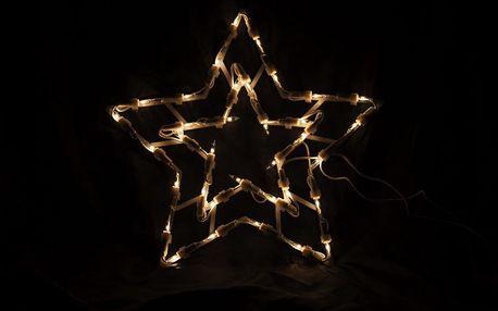 Nexos 47249 Vánoční LED dekorace - hvězda - 30 cm