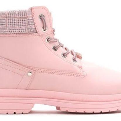 Dámské růžové kotníkové boty Gina 010